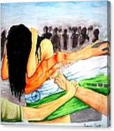 Delhi Gang Rape A Tragedy Canvas Print