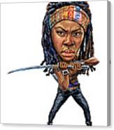Danai Gurira As Michonne Canvas Print