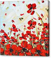 Dance Among Red Poppies Canvas Print