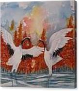 Dance At Dawn Canvas Print