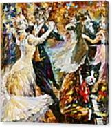 Dance Ball Of Cats  Canvas Print