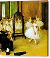 Dance Class 2 Canvas Print