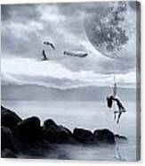 Dance In The Moon Canvas Print