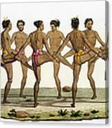 Dance Of The Caroline Islanders, Plate Canvas Print