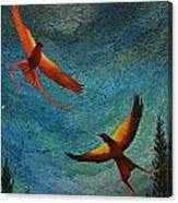 Dance Of The Firehawks Canvas Print