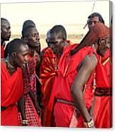 Dance Of The Maasai Canvas Print