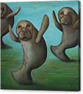 Dance Of The Manatees Canvas Print