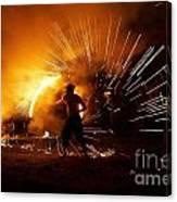 Dance On Fire Canvas Print