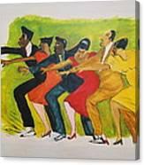 Dance Series1 0f 8-Shim Sham Shimmy Canvas Print