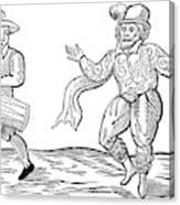 Dance The Morris, 1600 Canvas Print