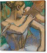 Dancer Adjusting Her Shoulder Canvas Print