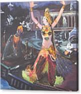 Dancer Laxmi Dancing On The Boat Canvas Print