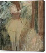 Dancer Dressing Canvas Print