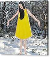 Dancer In The Snow Canvas Print