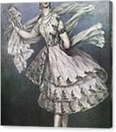 Dancer Maria Taglioni In The Ballet Le Canvas Print