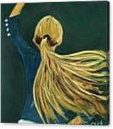 Dancer With Hair Canvas Print