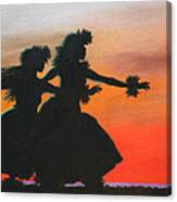 Dancers At Sunset Canvas Print