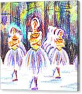 Dancers In The Forest II Canvas Print