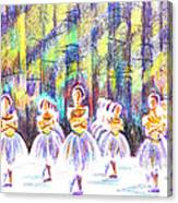 Dancers In The Forest Canvas Print