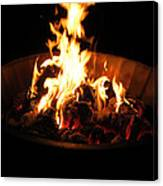 Dancing Amber Fire In Pit Canvas Print