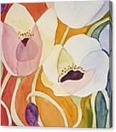 Dancing Anemones Canvas Print