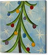 Dancing Christmas Tree Canvas Print
