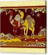 Dancing Desert Ships Canvas Print