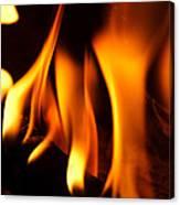 Dancing Flames Canvas Print