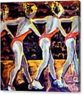 Dancing Girls Canvas Print