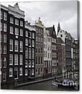 Dancing Houses Damrak Canal Amsterdam Canvas Print