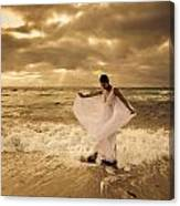 Dancing In The Surf 2 Canvas Print
