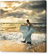 Dancing In The Surf Canvas Print