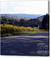 Dancing Leaves On A Country Road Canvas Print
