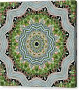 Dancing Mandevilla Blossom Kaleidoscope Canvas Print