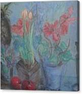 Dancing Still Life In Pastel Canvas Print