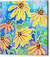 Dancing Susans Canvas Print