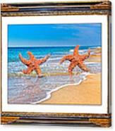 Dancing To The Beat Of The Sea Canvas Print