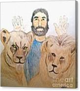 Daniel in the Lions' Den Canvas Print