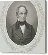 Daniel Webster, From The History Of The United States, Vol. II, By Charles Mackay, Engraved By T Canvas Print