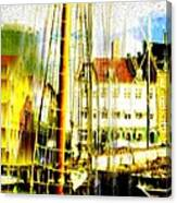Danish Harbor Canvas Print