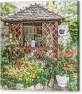Dans Le Jardin Canvas Print