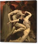 Dante And Virgil Canvas Print