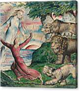 Dante Running From The Three Beasts Canvas Print