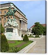 Danube Terrace At Buda Castle In Budapest Canvas Print