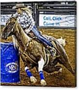 Dappled Barrelracer Canvas Print