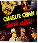 Dark Alibi, Top Left Sidney Toler Canvas Print