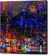 Dark City Lights Cityscape Canvas Print