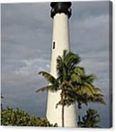 Dark Clouds Over Cape Florida Canvas Print