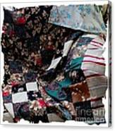 Dark Colored Blocks Patchwork Quilt  Canvas Print