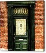 Dark Green Doorway Photograph Print Canvas Print